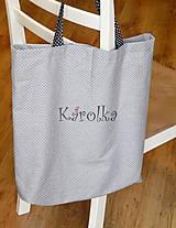 Nákupné tašky - Nákupná taška - Sivá ZĽAVA z 9,50 na  8€ - 7665977_