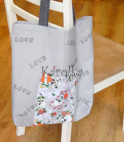 Nákupná taška - Sivá ZĽAVA z 9,50 na  8€