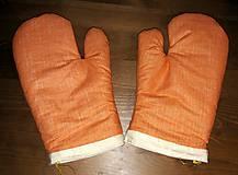 Úžitkový textil - Oranžové chňapky - 7667195_