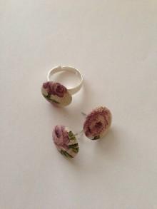 Sady šperkov - Sada náušnice s prsteňom - 7667557_