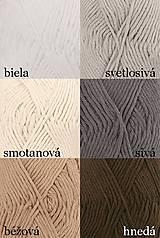 Úžitkový textil - Pletené chňapky - červená/mätová/sivá - 7668422_