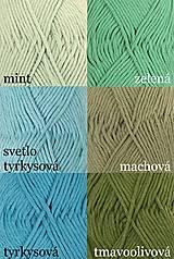 Úžitkový textil - Pletené chňapky - červená/mätová/sivá - 7668426_
