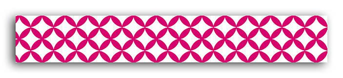 Papier - MT36 Washi páska 10m – Vzor Fuchsiová/biela - 7665533_