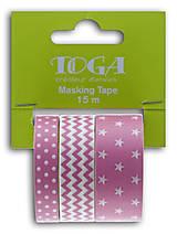 Papier - MT90 Set 3 washi pások Fuchsia 3x5m - 7665569_