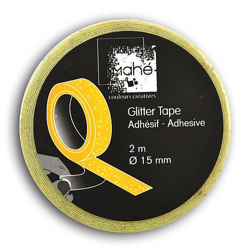 MT03 Glitrová washi páska 2m Fluorescenčná žltá