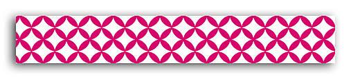 MT36 Washi páska 10m – Vzor Fuchsiová/biela