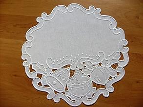Úžitkový textil - Vyšívané prestieranie - richelieu, biela, 39 x 40 cm - 7666916_