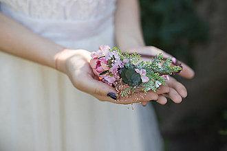 Ozdoby do vlasov - Kvetinová čelenka pre nevestu \