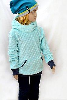 Detské oblečenie - Minky mikina Mint & denim - 7666700_