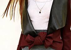 Kabáty - Bordové sako s mašľou - 7664974_