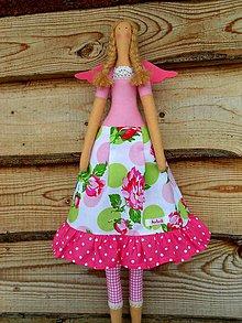 Bábiky - Mráz mi štípe líčka:), textilný anjel, 60 cm - 7665529_