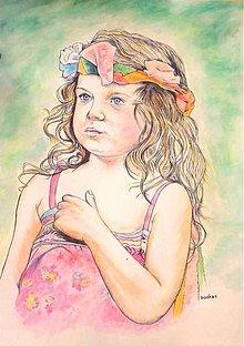 Obrazy - jarná víla -portrét A2 - 7666981_
