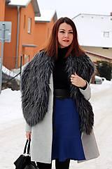 Sukne - Modrá sukňa s volánom - 7665212_