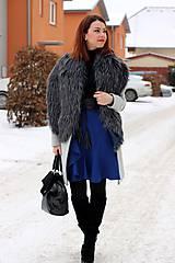 Sukne - Modrá sukňa s volánom - 7665215_