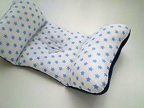 Textil - Vankúš do autosedačky- hviezdičky - 7666994_
