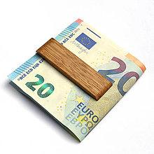 Tašky - Dubová pozdĺžna spona na peniaze - 7665470_