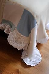 Úžitkový textil - Romantická belasá prikrývka - 7665226_
