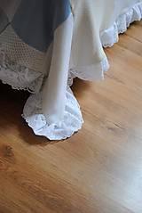 Úžitkový textil - Romantická belasá prikrývka - 7665228_
