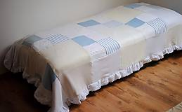 Úžitkový textil - Romantická belasá prikrývka - 7665230_