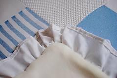 Úžitkový textil - Romantická belasá prikrývka - 7665231_