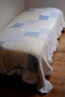 Úžitkový textil - Romantická belasá prikrývka - 7665225_