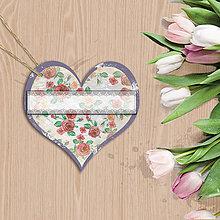Papiernictvo - Valentínska menovka (14 (kvety vintage)) - 7667015_