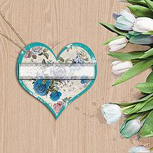 Papiernictvo - Valentínska menovka (10 (kvety vintage)) - 7667026_