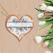 Papiernictvo - Valentínska menovka (9 (kvety vintage)) - 7667929_