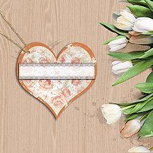 Papiernictvo - Valentínska menovka (7 (kvety vintage)) - 7667930_