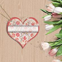 Papiernictvo - Valentínska menovka (6 (kvety vintage)) - 7668177_