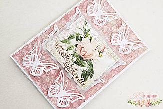 Papiernictvo - Scrapbooková pohľadnica IV - 7669103_