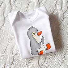 Detské oblečenie - Body pinguin - 7669445_
