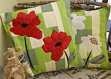 Úžitkový textil - divé maky a margarétky .... - 7670230_