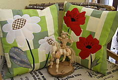 Úžitkový textil - divé maky a margarétky .... - 7670232_