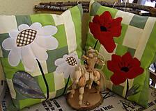 Úžitkový textil - divé maky a margarétky .... - 7670233_