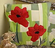 Úžitkový textil - divé maky a margarétky .... - 7670235_