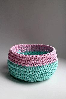 Košíky - Košík - Tyrkysová ružová svetlá | BOBBINY - 7671269_