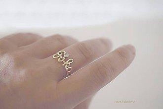 Prstene - Eva Evka alebo Jana - 7670990_