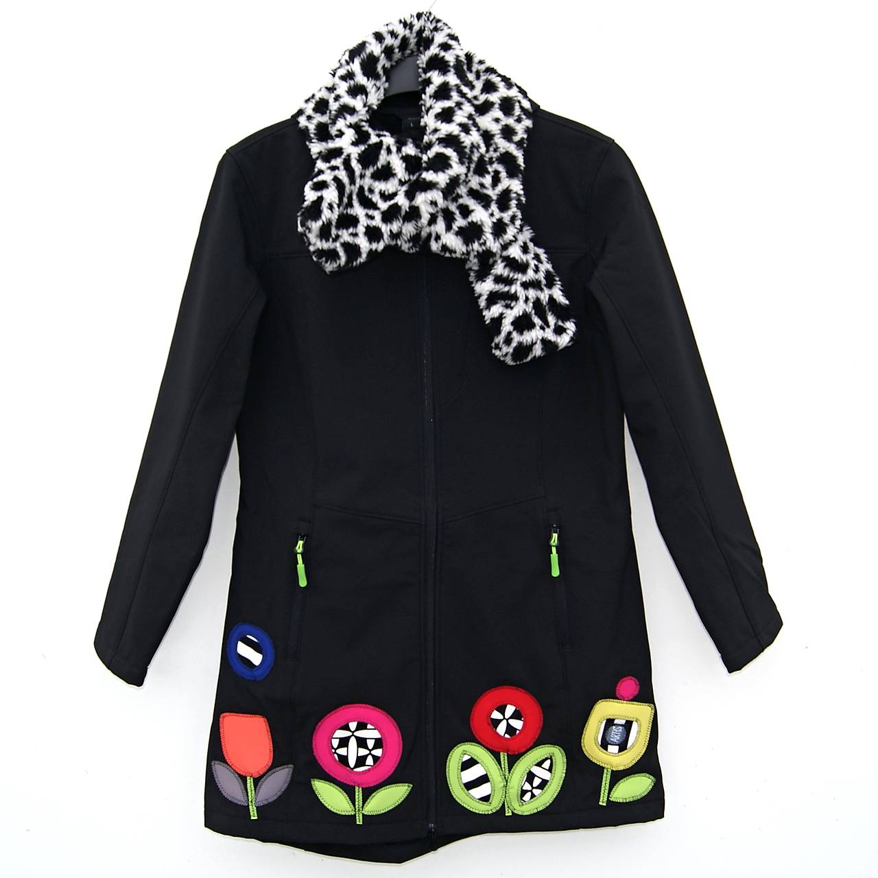 Dámský kabát Floral Mosaic   ARTiS - SAShE.sk - Handmade Kabáty 18279aa43a3