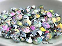 Galantéria - Ozdobné kamienky našívacie 13 mm - AB Crystal - 7670025_
