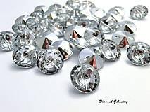 Galantéria - Ozdobné kamienky našívacie 13 mm - Crystal - 7670029_