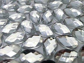 Galantéria - Ozdobné kamienky 8x13 mm - Crystal - 7669804_