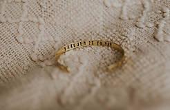 Náramky - Mosadzný náramok s vlastným odkazom - 7672445_