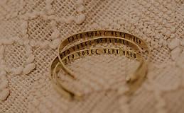 Náramky - Mosadzný náramok s vlastným odkazom - 7672450_
