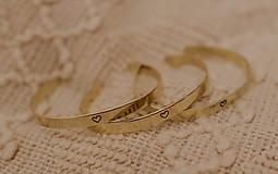 Náramky - Mosadzný náramok s vlastným odkazom - 7672452_