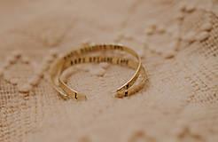 Náramky - Mosadzný náramok s vlastným odkazom - 7672461_
