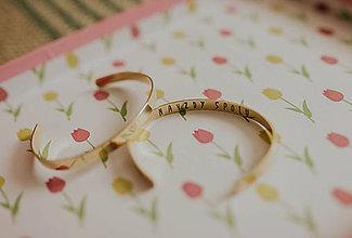 Náramky - Mosadzný náramok s vlastným odkazom - 7672458_