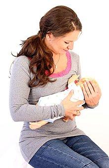 Tehotenské oblečenie - Dojčiace tričko 3v1 dl. rukáv, s čipkou - 7669795_