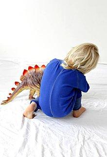 Detské oblečenie - TEPLÝ rastúci overal, bavlna - modrá (74-92cm (9-24m)) - 7671103_