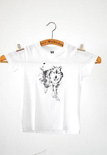 Detské oblečenie - Vlk! Detské, biele, 3-4 roky - 7669043_
